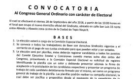 CONVOCATORIA PARA LA ELECCIÓN DEL COMITÉ
